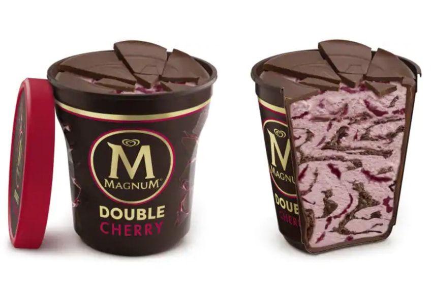 بستنی مگنوم با طعم توت فرنگی