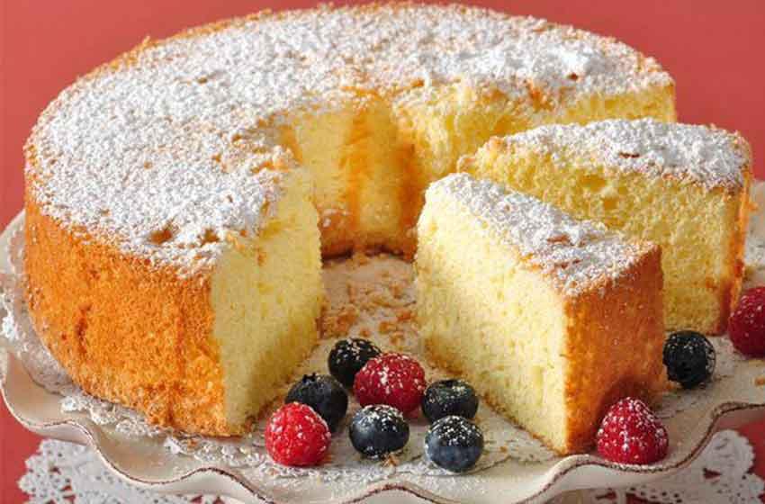کیک اسفنجی با بری