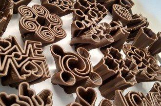چاپگر سه بعدی تولید شکلات